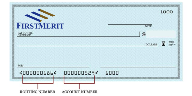 FirstMerit Routing Number and Wiring Instructions Online Banking