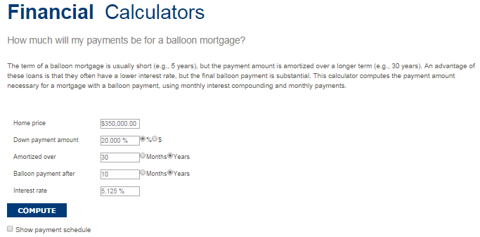 calculate balloon payment