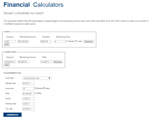 Should I consolidate my loans? - Calculator