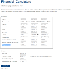 Which mortgage is better for me? - Calculator