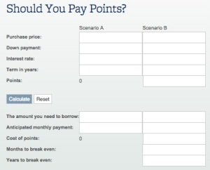 Should I Pay Points Calculator
