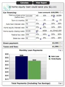 auto loan calculator with tax