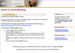 Bb&t bank online phone