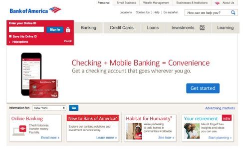 Bank Of America Online Banking Login Online Bank Directory