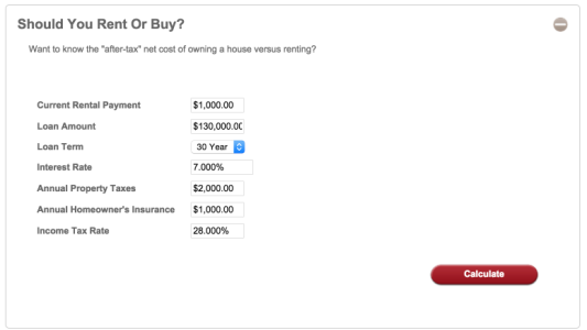 Rent vs Purchase Calculator