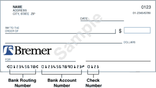 Bremer Bank Routing Numbers And Wiring Instructions