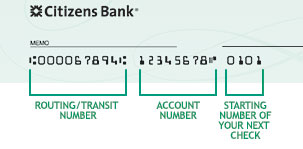 Citizens Bank Routing Number and Wiring Instructions Online Banking
