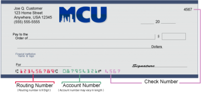 MCU Routing Number and Wiring Instructions | Online Banking  Citizens