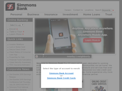 Simmons First Bank Online Banking Login - Online Bank Directory