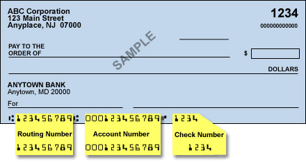 account number and routing number pnc